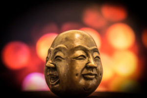 two sided lucky budha head