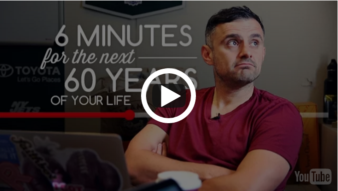6 minutes for the next 60 years of your life - Gary Vaynerchuk